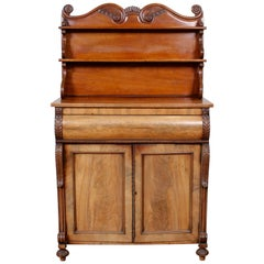 English Chiffonier Sideboard Cabinet Victorian 19th Century Mahogany