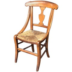 English Child's Chair with Rush Seat