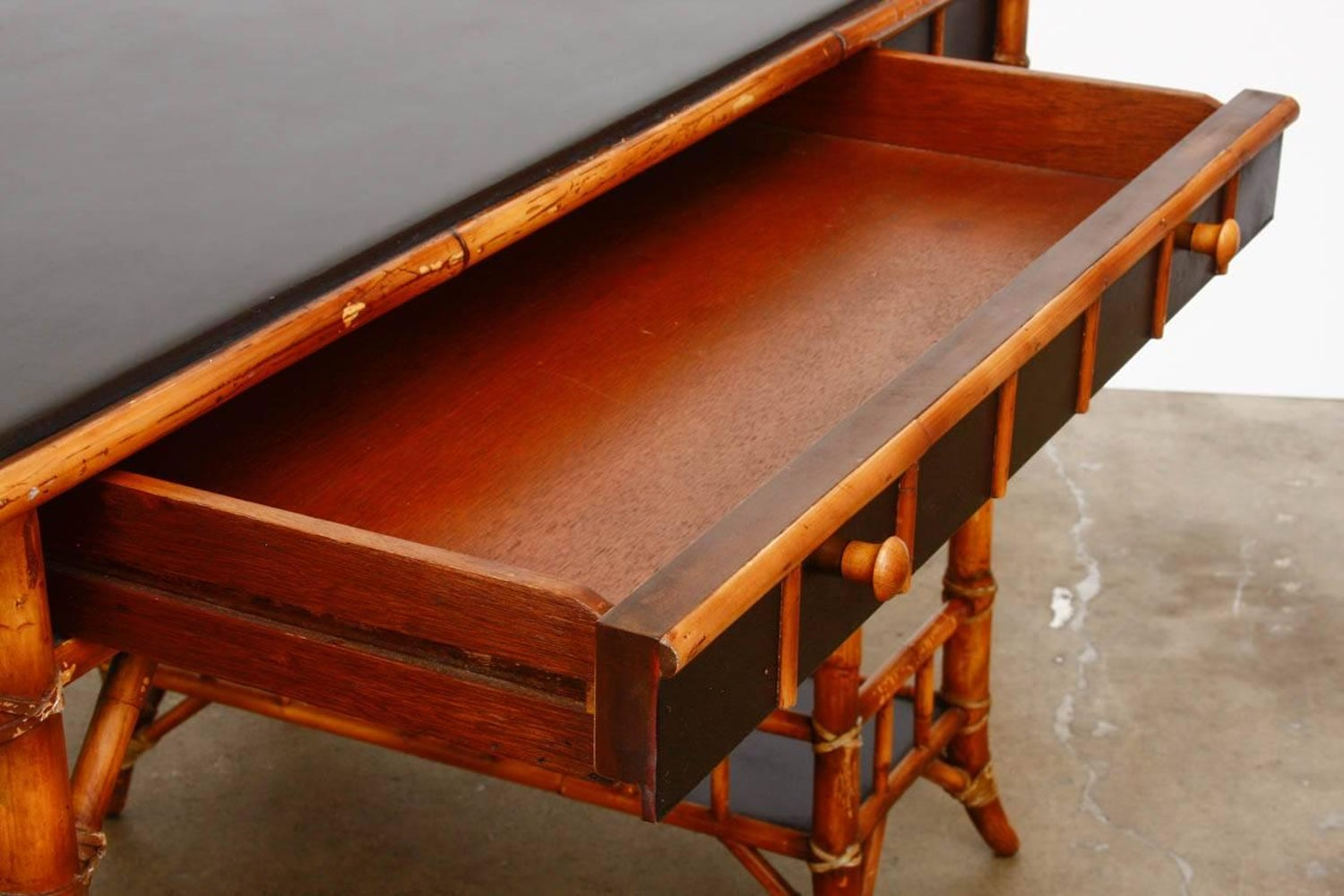 English Chinoiserie Style Bamboo Desk By Milling Road For Baker At 1stdibs