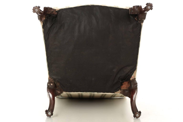English Chippendale Antique Mahogany Lolling Armchair, 18th Century For Sale 6