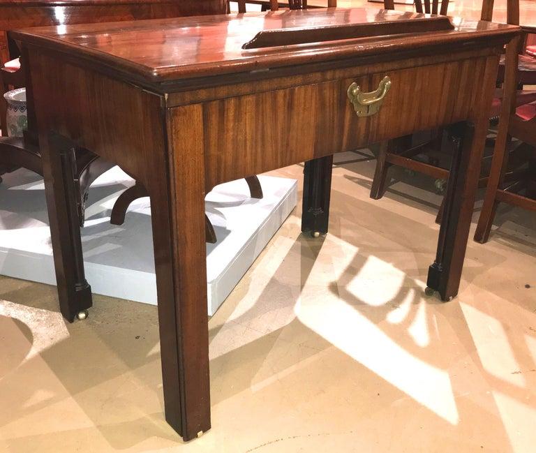 Georgian English Chippendale Mahogany Architect's Desk or Design Table, circa 1780 For Sale