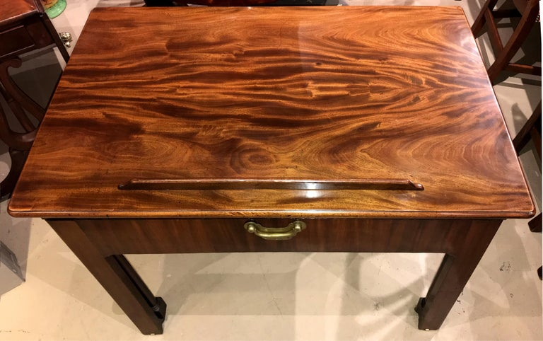 Hand-Carved English Chippendale Mahogany Architect's Desk or Design Table, circa 1780 For Sale