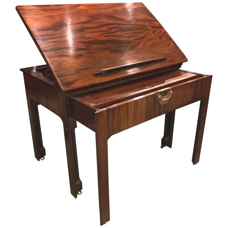 English Chippendale Mahogany Architect's Desk or Design Table, circa 1780 For Sale
