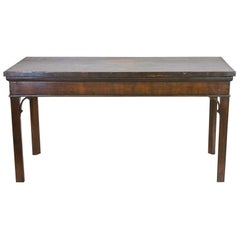English Chippendale Mahogany Console Table