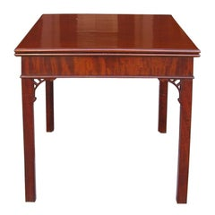English Chippendale Mahogany Constantine Action Game Table . Circa 1770