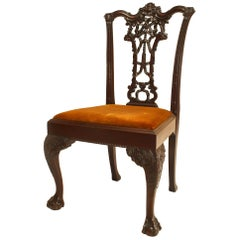 English Chippendale Mahogany Ribbon Side Chair