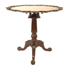 English Chippendale Mahogany Shell End Table