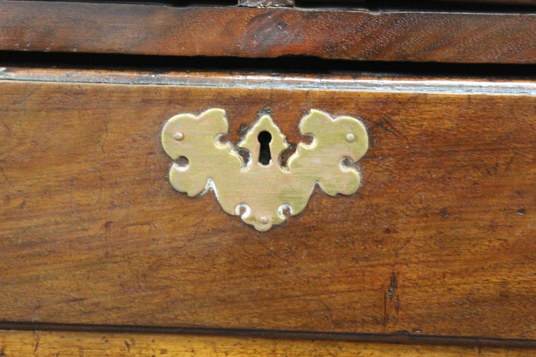 English Chippendale Mahogany Slant Front Desk For Sale 6