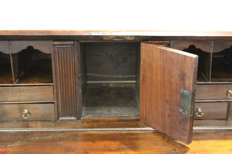 English Chippendale Mahogany Slant Front Desk For Sale 12