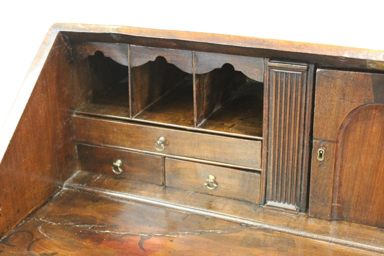 English Chippendale Mahogany Slant Front Desk For Sale 13