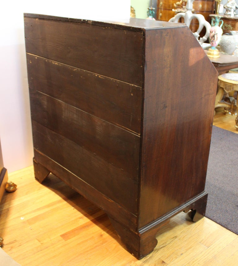 English Chippendale Mahogany Slant Front Desk For Sale 14
