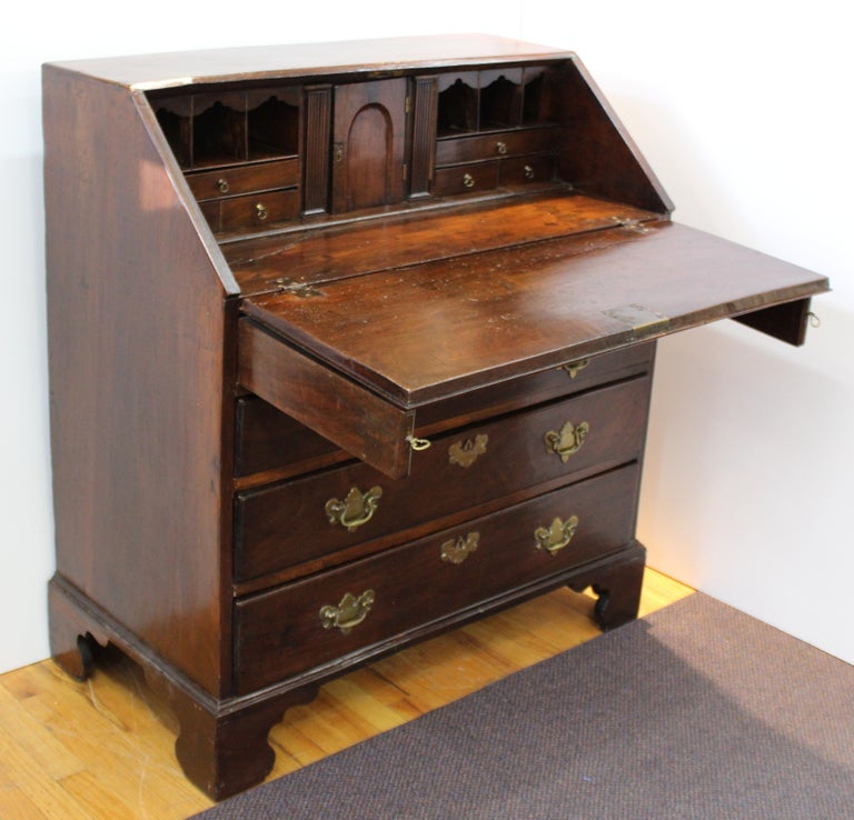 English Chippendale Mahogany Slant Front Desk For Sale 2