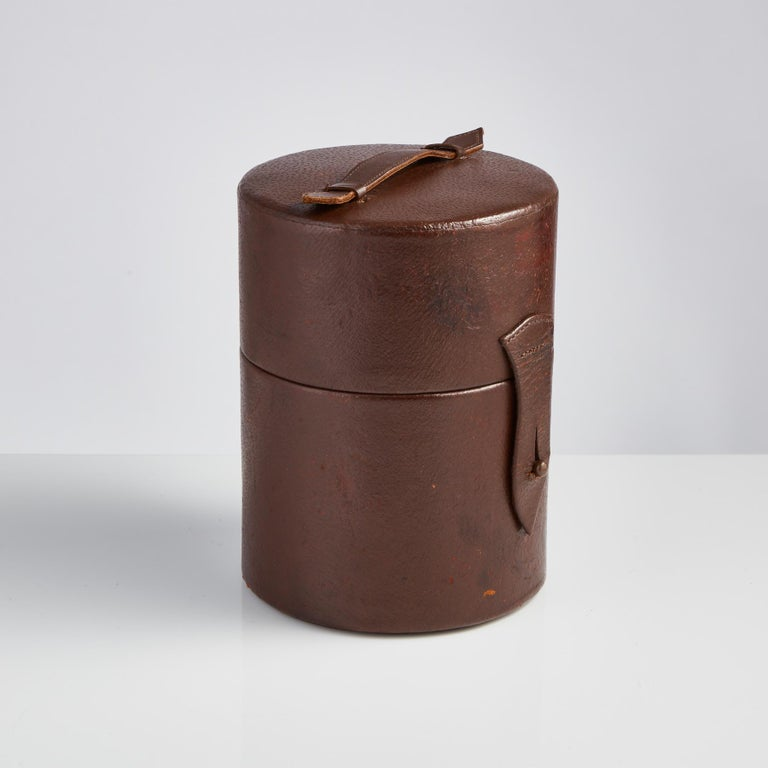 Mid-20th Century English Cocktail Set in a Leather Case, circa 1930 For Sale