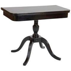 English Colonial Ebony Wood Games Table