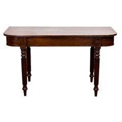 English Console Sheraton Style Table