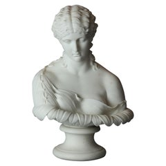 English Copeland School Cast Parian Porcelain Bust of Classical Woman, c1890