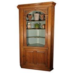 English Corner Cabinet of Pine from the Georgian Era