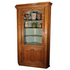 English Corner Cupboard or Shelving Cabinet of Pine from the Georgian Era