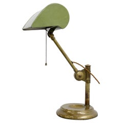 English Counter Weight Bankers Lamp circa 1910
