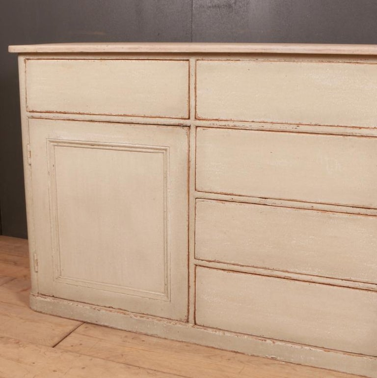 Painted English Country Dresser Base For Sale