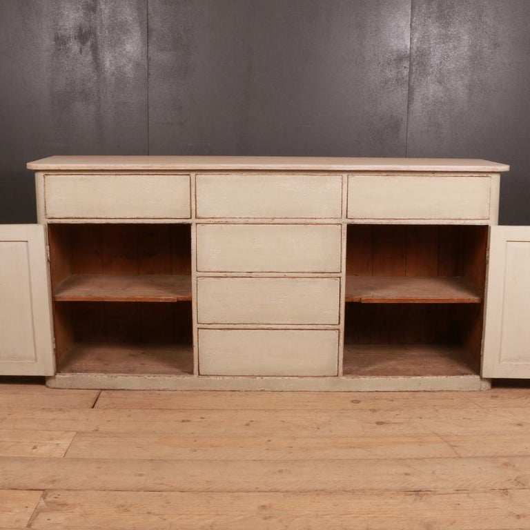 19th Century English Country Dresser Base For Sale