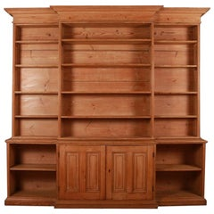 English Country House Pine Bookcase