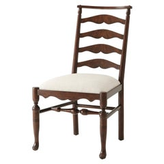 English Country Ladder Back Dining Chair