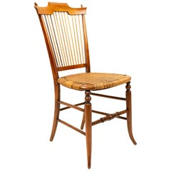 English Country Maple Side Chair