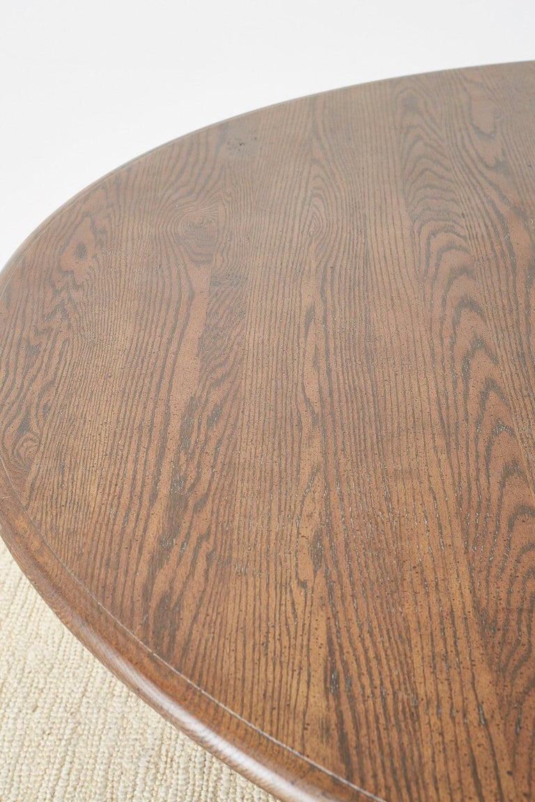 English Country Style Round Oak Dining Table For Sale 6