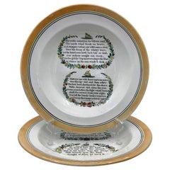 English Creamware Sailor Plates