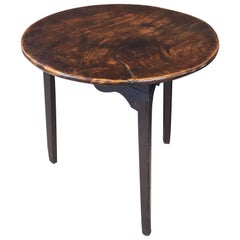 English Cricket Table of Mahogany and Pine