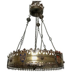 English Crown-Shaped Chandelier