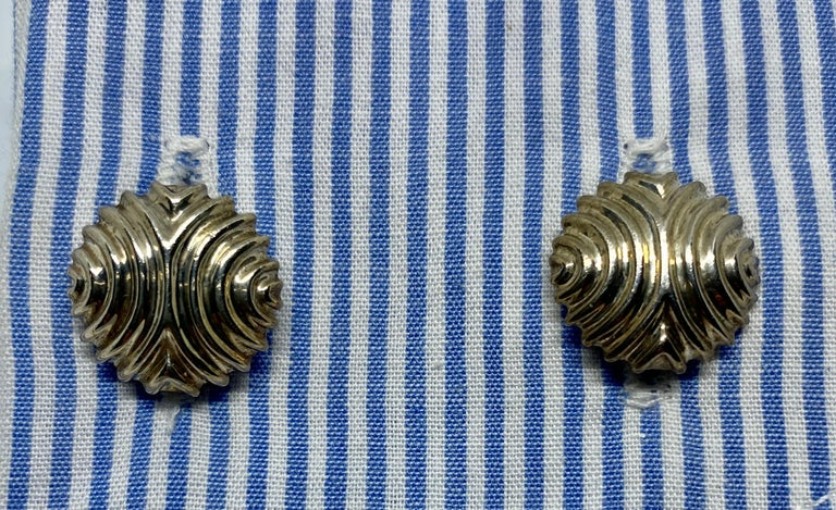 English Cufflinks in Sterling Silver For Sale 2