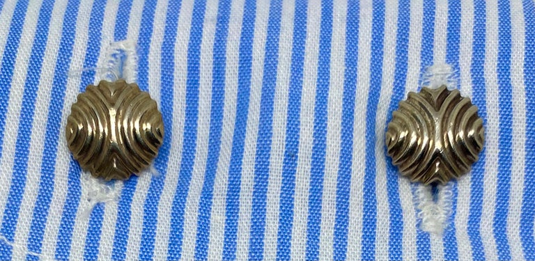 English Cufflinks in Sterling Silver For Sale 3