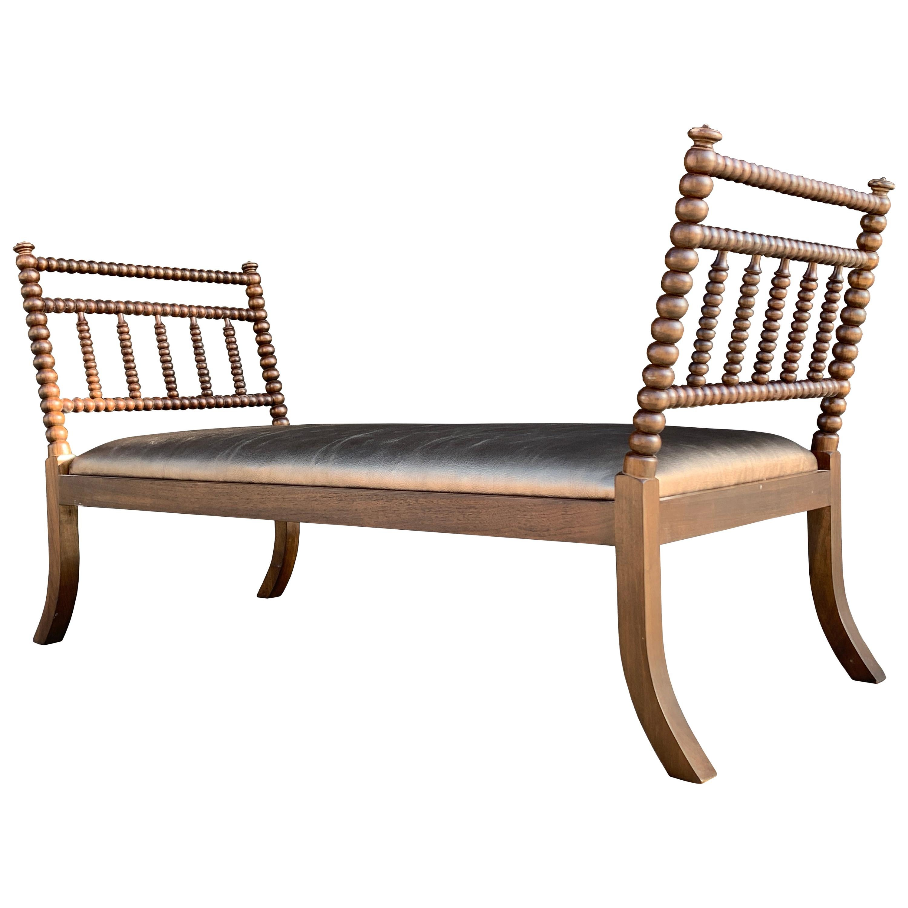 English Daybed with Turned Wood Frame