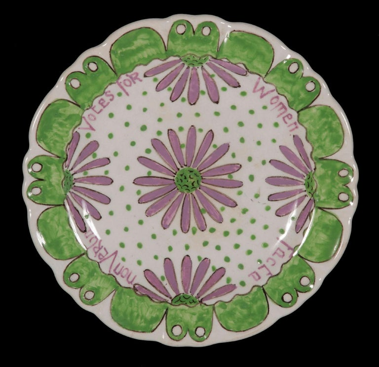 ENGLISH PORCELAIN SUFFRAGETTE PLATE WITH