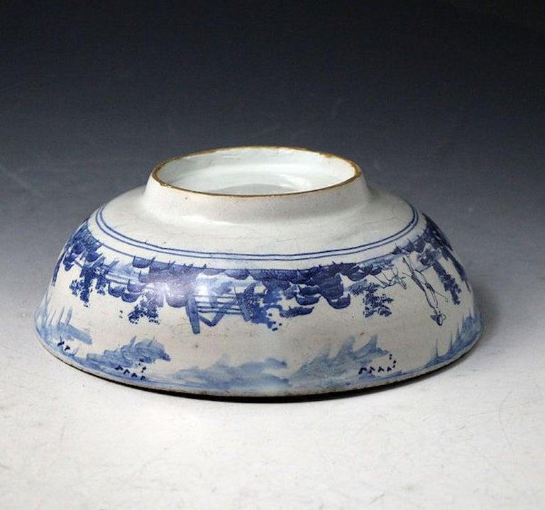 Mid-18th Century English Delftware Bowl