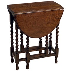 English Drop-Leaf Gate-Leg Table of Oak