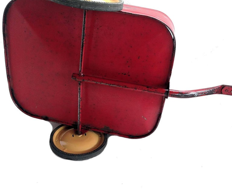 English 'Duke' Childs Pedal Car by Triang & Tri Trailer for Prop Display or Use For Sale 10