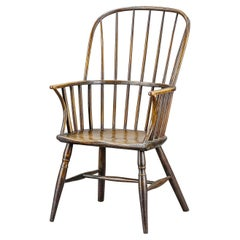 English Early 19th Century Country Hoop Back Windsor Chair