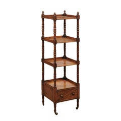 "English Early 19th Century Mahogany Regency ""What Not"" Etagere"