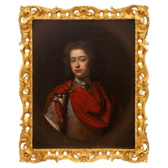 English Early 19th Century Oil on Canvas Within a Fine Giltwood Frame