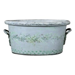 English Early 19th Century Original Painted Tole Foot bath