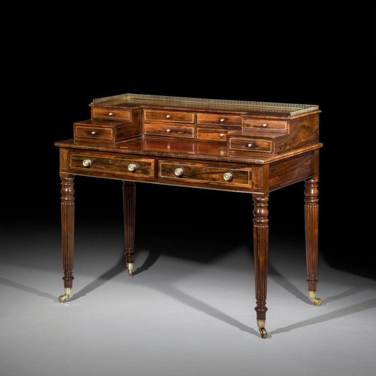 Antique Regency Desk or Writing Table, English 19th Century For Sale 2