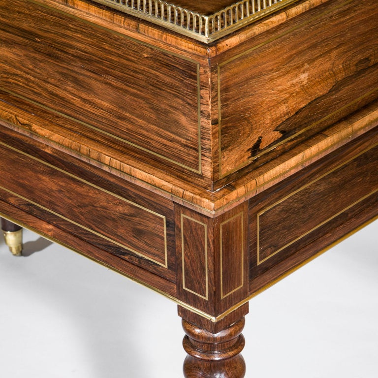 Antique Regency Desk or Writing Table, English 19th Century For Sale 3