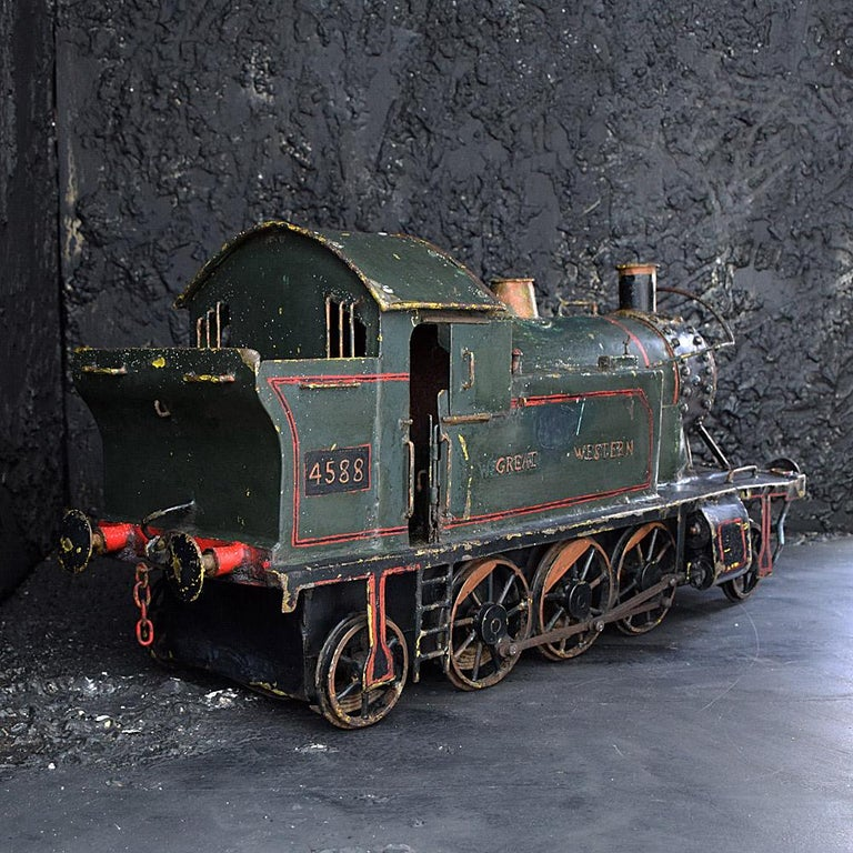 Metal English Early 20th Century Amazing Scratch Built Locomotive For Sale