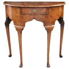 English Early 20th Century Demilune Georgian-Style Console