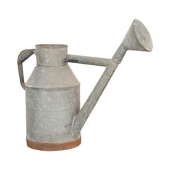 English Early 20th Century Zinc Watering Can