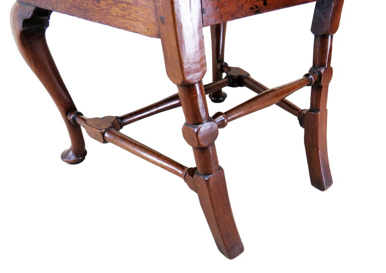 Mid-18th Century English Early Georgian Mahogany Set Of 4 Side Chairs For Sale