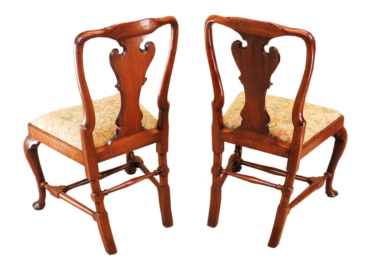 English Early Georgian Mahogany Set Of 4 Side Chairs For Sale 3